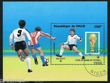 Niger blok 49 WK voetbal wc soccer Mexico 1986 Gestempeld - Used Cat waarde € 5