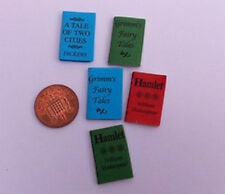 Pack Of Five Titled Books. Stationery library literature Dolls House Miniature