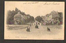 TOURS (37) VOITURE à BRAS avec CHIEN attelé devant , LA TRANCHEE en 1903