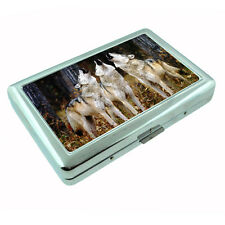 Wolf Metal Silver Cigarette Case D5 Wolves Wilderness Animal Dog Hunter Predator