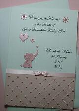 Personalised New Baby Birth Congratulations Card Girl Boy