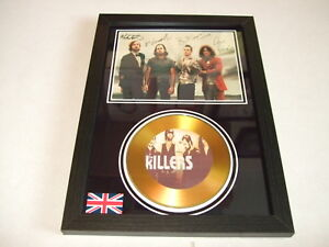 THE KILLERS  SIGNED  GOLD CD  DISC 095