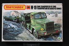 YM067 Matchbox 1/76 Maqueta Coche 40174 M-19 Tank (Tanque) Transportar 45 Tonos