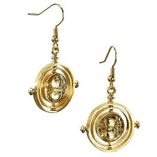 Harry Potter Time-Turner Gold Plated Earrings - Official Noble Collection