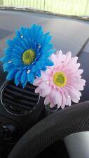 Double Gerbera Dashboard Daisy Car Flower Blue Pink for VW Beetle Bug Vase +Gift