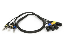Monoprice 8760 3ft 4-Channel TRS Male to XLR Female Snake Cable