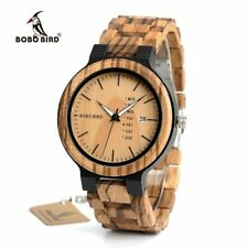 BOBO BIRD Wood Watch Men relogio masculino Week and Date Display Timepieces Casu