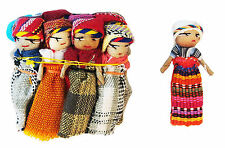 "12x Large Guatemalan Worry Dolls - 2"" Trouble Doll - Mayan Hand Made - Bulk New!"
