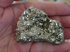 A Larger Nice and 100% Natural Rhombic PYRITE Crystal Cluster! Peru! 10.35 oz E