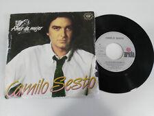 """CAMILO SESTO AMOR DE MUJER SINGLE 7"""" VINILO VINYL SPAIN ED 1983 ARIOLA"""