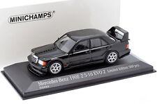 Mercedes-benz 190e 2.5-16 evo 2 año de construcción 1990 negro 1:43 Minichamps