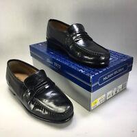 NUNN BUSH Leather Loafers Slip On Dress Casual Shoes Men's Black 9M