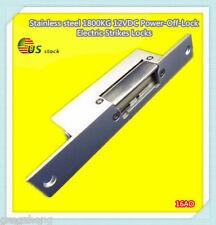 Stainless steel 1800KG 12VDC Power-Off-Lock Electric Strikes Locks/16AO
