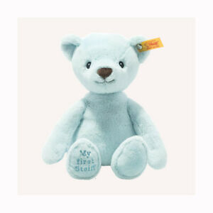 Steiff 242144 / 242052  My first Steiff BLUE Teddy bear with FREE STEIFF BOX