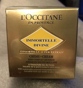 NEW L'OCCITANE Immortelle Divine Cream 50ml RRP £79 Moisturiser.BNIB UNSEALED