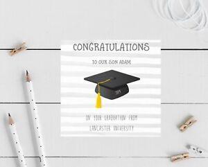 Personalised Graduation Congratulations Card - Son, daughter, university, degree