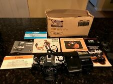 Canon AE-1 Program 35mm SLR Film Camera with 50 mm lens, Including 188A Flash
