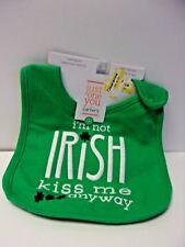 LOT OF 2 Green Im Not Irish Kiss Me Anyway Teething Bib by Carters 663