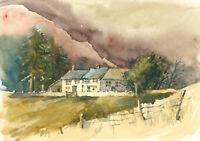 Clifford H. Thompson (1926-2017) - 1993 Watercolour, Cottages in a Landscape
