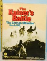 The Kaiser's Battles German Offensive March 1918 World War I SPI 1980 Unpunched