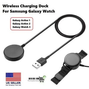 For Samsung Galaxy Watch Active 1 2 / Watch 3 Wireless Charger Charging Dock