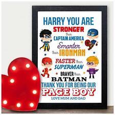 PERSONALISED Superhero Page Boy Best Man Usher Gift - Page Boy Thankyou Gifts