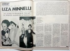 LIZA MINELLI => 3 pages 1972 vintage SPANISH CLIPPING !!! (FREE SHIPPING)