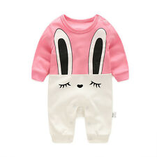 24-26M pink Newborn Infant Baby Girls Cotton Bodysuit Romper Jumpsuit Clothes