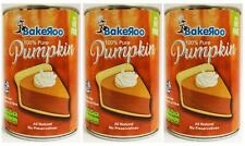 (Pack of 3) Bakeroo Tinned Pumpkin Puree (Pumpkin Pie Filling)100% Natural-425g