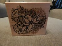 PSX, Embossing Stamp, Poinsettia, Holly , and Roses