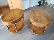 TWO vintage heirloom weiman tables quality End Tables