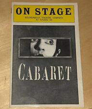 Cabaret On Stage Roundabout Theatre Company At Studio 54 Playbill 1998 Program
