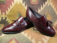 Hanover Tassel Wingtip Loafers Shoes Mens Size 9 EEE Made in USA
