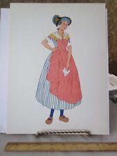 Vintage Print,WOMAN OF BOURBONNAIS,French Costumes,1939