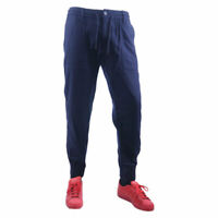 AJ ARMANI Jeans 6X6P65 6NKGZ Mens Chino Trousers Regular Fit Casual Pants Blue