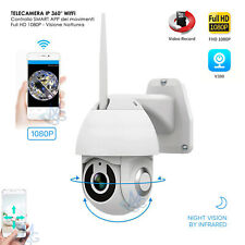 Telecamera IP Motorizzata Wifi Wireless Interna Esterna App Smartphone Dome IP66