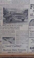 1963 newspaper ad for Mercury - Comet Caliente, Rip-snortin'est sportin'est ever