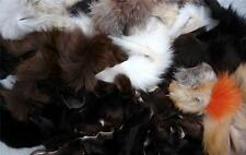 100% FUR PIECES MINK FOX  REX BEAVER COYOTE MORE VARIETY COLORS  CRAFT ACCESSORY