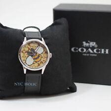 New Coach W1546 Bracelet Watch Ruby Bee Black Khaki With Box