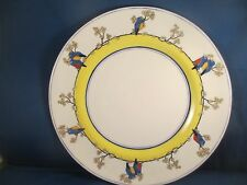 Vintage Plate Royal Doulton Yellow and Blue rim with Blue Red and Yellow Birds
