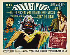 "1950's Sci-Fi  Forbidden Planet Robby the Robot 1956 Silk Movie Poster 24"" x 32"""