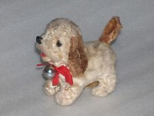 VINTAGE PLUSH/MOHAIR WIND-UP TOY - DOG