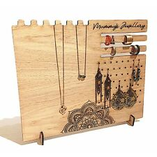 Personalised Wooden Mandala Jewellery Stand