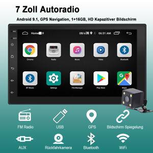 "7"" 2DIN Android Autoradio Mit GPS Navigation NAVI Bluetooth WIFI Doppel MP5"