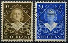 Netherlands 1948 SG#672-3 Coronation Used Set #D71556