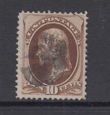 US Sc 150 used 1870 10c dark brown Jefferson F-VF