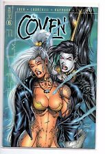 The Coven #6 Vol 1 NM- Gold Foil Logo Cover 1998 Only 2,000! Printed w COA Loeb