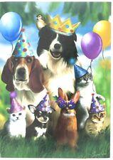 New Evergreetings Card & 12.5 X 18 Garden Flag Gift Set Party Animal Birthday