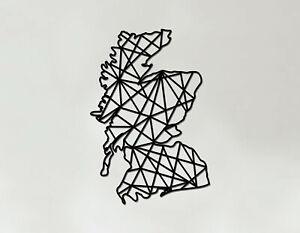 Scotland Art - Wooden Laser Cut Wall Art - Geometric Country Art