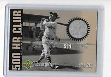 MEL OTT 2002 UPPER DECK PIECE OF HISTORY 500 HR CLUB GAME JERSEY -GIANTS!!